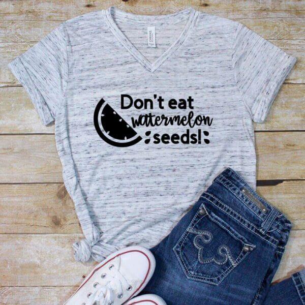 girl shirt watermelon seeds
